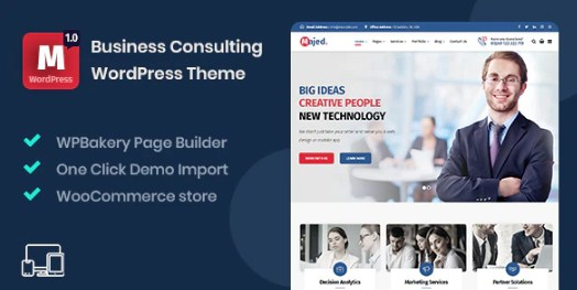 Latest Photo of  Majed Business Consulting WordPress Theme