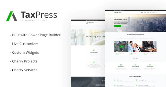 Latest Photo of  TaxPress Consulting Services WordPress Theme