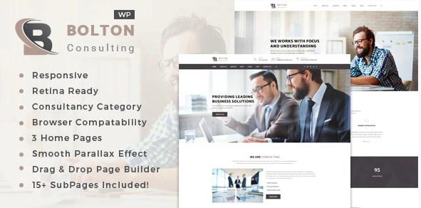 Latest Photo of  Bolton: Business Consulting Services WordPress Theme
