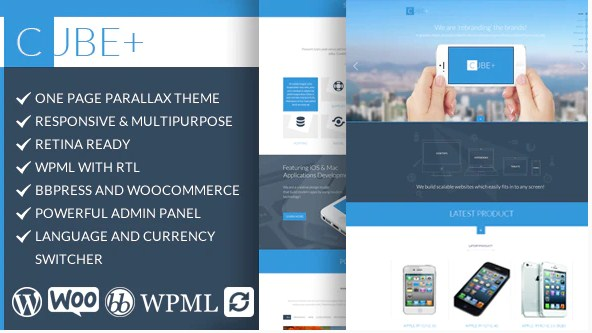 Latest Photo of  Cube | Responsive Multipurpose One Page Theme