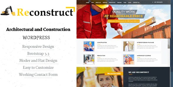 Latest Photo of  Reconstruct Construction and Builder WP Theme