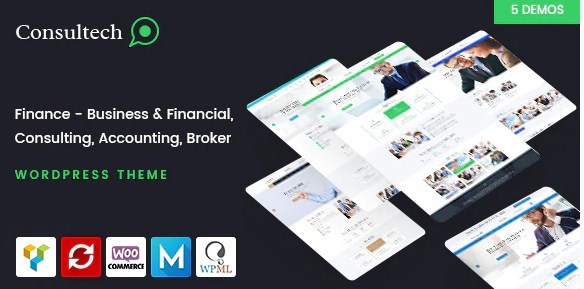 Latest Photo of  Consultech Finance & Consulting Business WordPress Theme