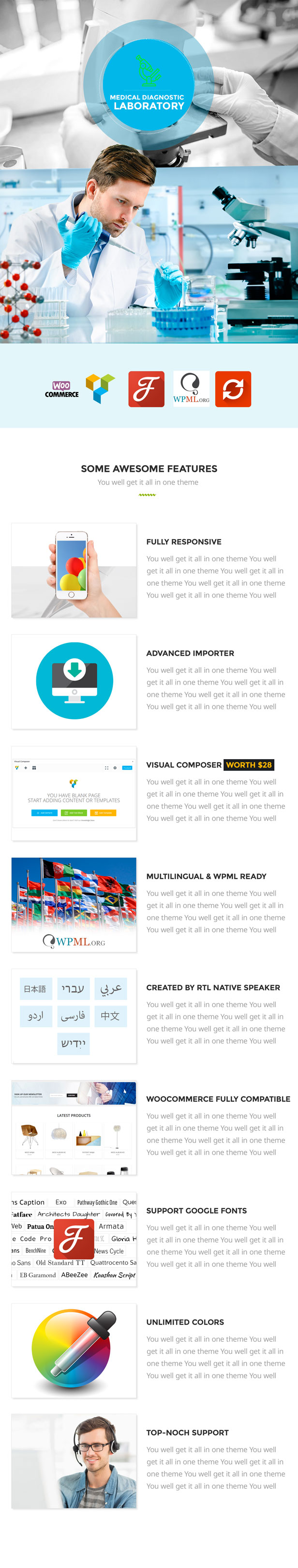 Latest Photo of  Laboratory Research & Medical WP Theme