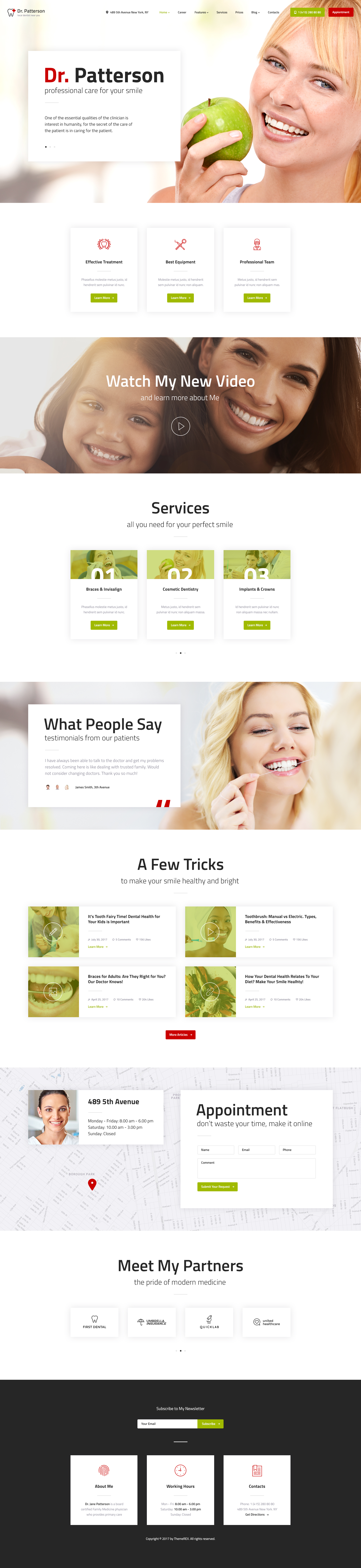 Latest Photo of  Dr.Patterson   Medicine & Healthcare Doctor WordPress Theme