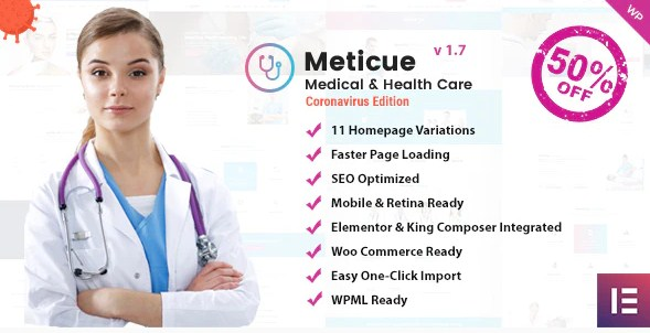 Latest Photo of  Meticue: Health and Medical Center WordPress Theme