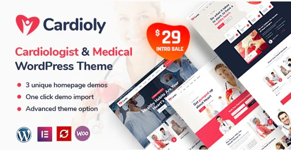 Latest Photo of  Cardioly Cardiologist and Medical WordPress theme