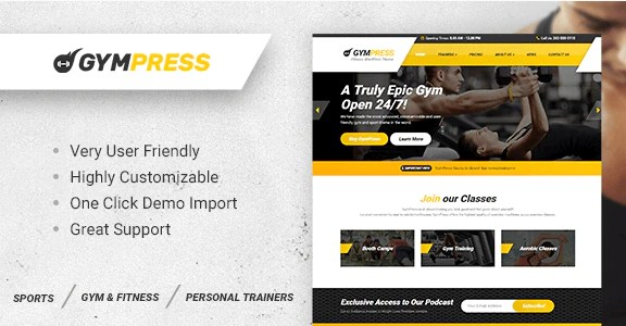 Latest Photo of  GymPress WordPress theme for Fitness and Personal Trainers