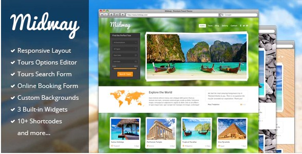 Latest Photo of  Midway Responsive Travel WP Theme