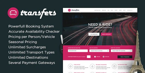 Latest Photo of  Transfers Transport and Car Hire WordPress Theme