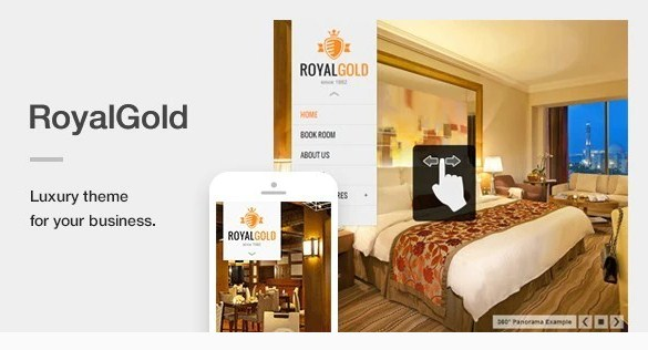 Latest Photo of  RoyalGold A Luxury & Responsive Hotel or Resort Theme For WordPress