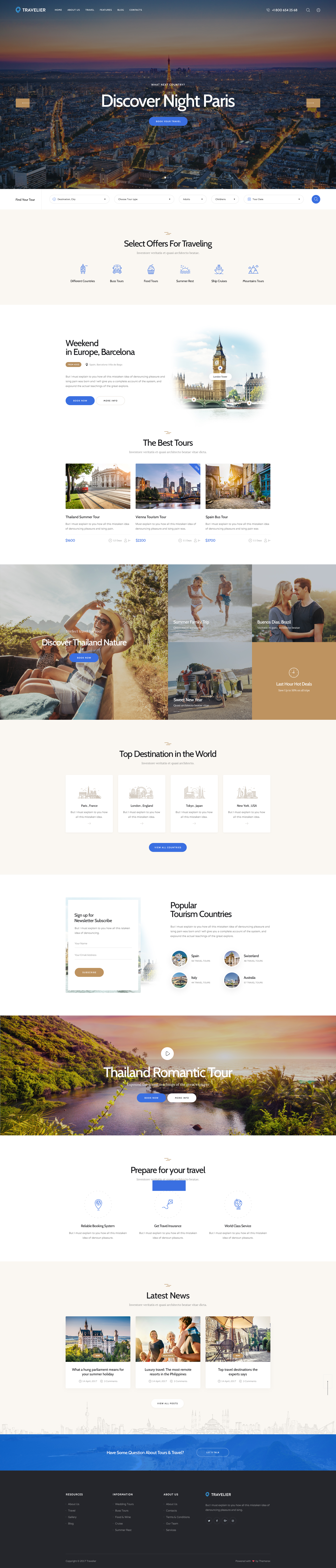 Latest Photo of  Travesia   A Travel Agency and Booking WordPress Theme