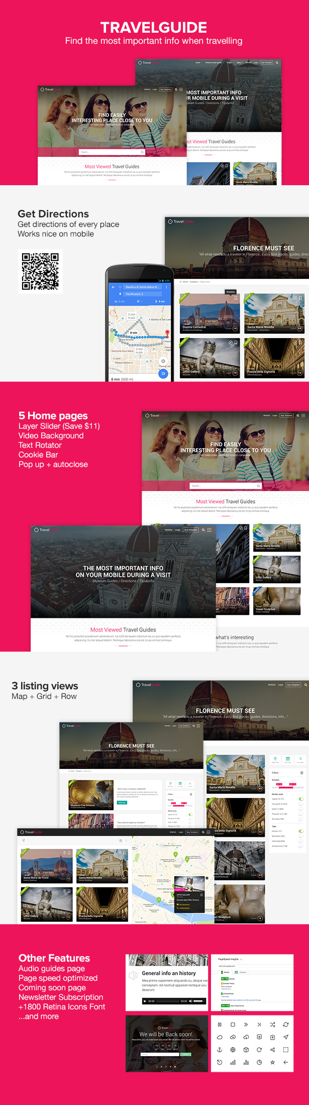 Latest Photo of  TRAVELGUIDE Guides, Places and Directions WordPress Theme
