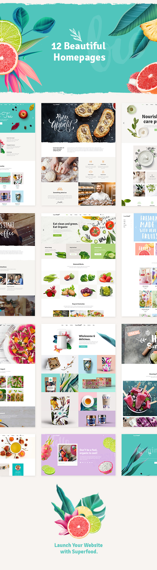 Latest Photo of  Superfood Organic Food Products Theme