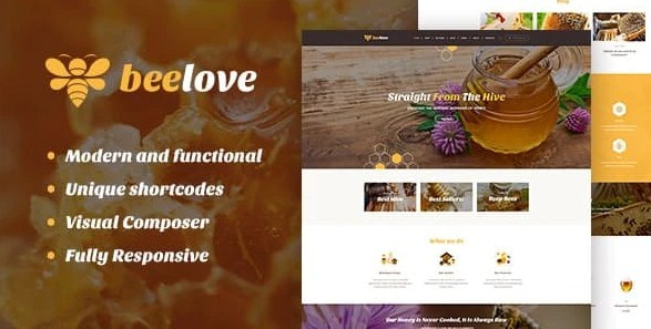 Latest Photo of  Beelove | Honey Production and Sweets Online Store WordPress Theme