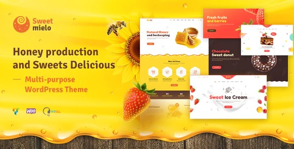 Latest Photo of  SweetMielo Honey Production and Sweets Delicious WordPress Theme