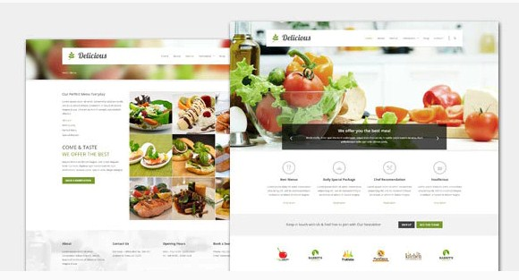 Latest Photo of  Delicious Food and Restaurant WordPress Theme