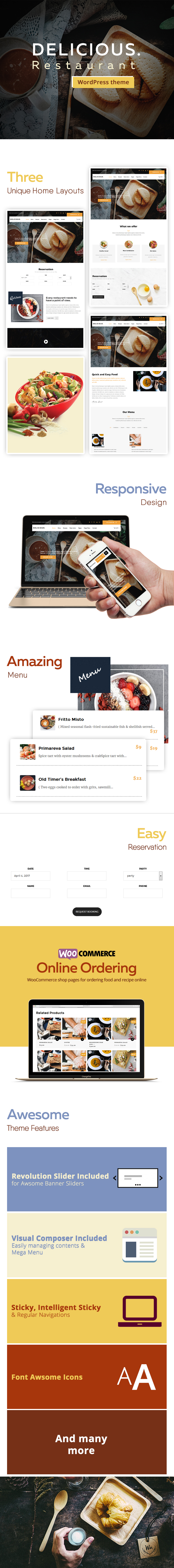 Latest Photo of  Delicious Table Booking Restaurant WordPress Theme