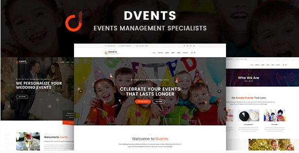 Latest Photo of  Dvents Events Management Companies and Agencies WordPress Theme