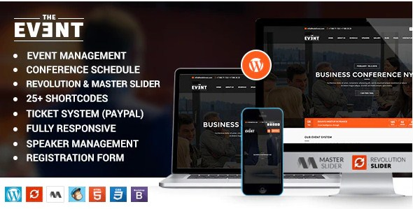 Latest Photo of  TheEvent Event Management and Conference WordPress Theme