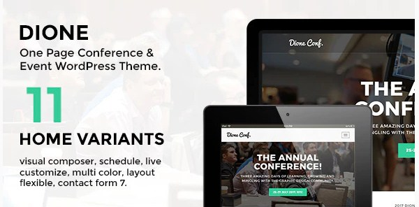 Latest Photo of  Dione Conference & Event WordPress Theme