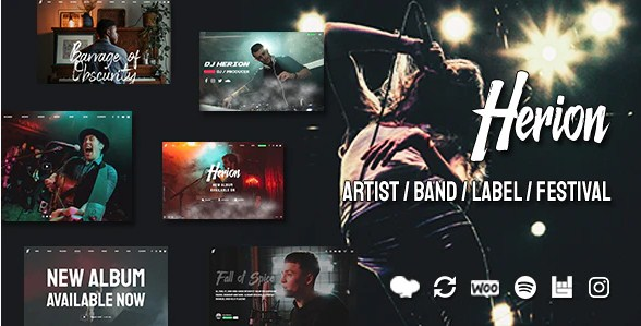 Latest Photo of  Herion A WordPress Theme for the Music Industry