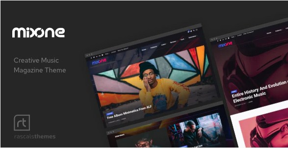 Latest Photo of  Mixone WordPress Music Magazine with Ajax and Continuous Playback