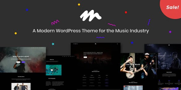 Latest Photo of  Marly A Modern WordPress Theme for the Music Industry