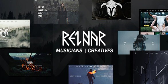 Latest Photo of  Reinar A Nordic Inspired Music and Creative WordPress Theme