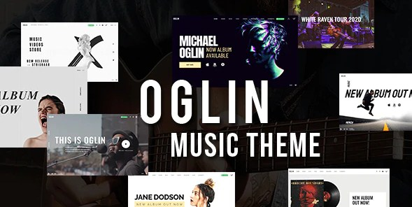 Latest Photo of  Oglin A Clean and Simple Music WordPress Theme with AJAX Navigation