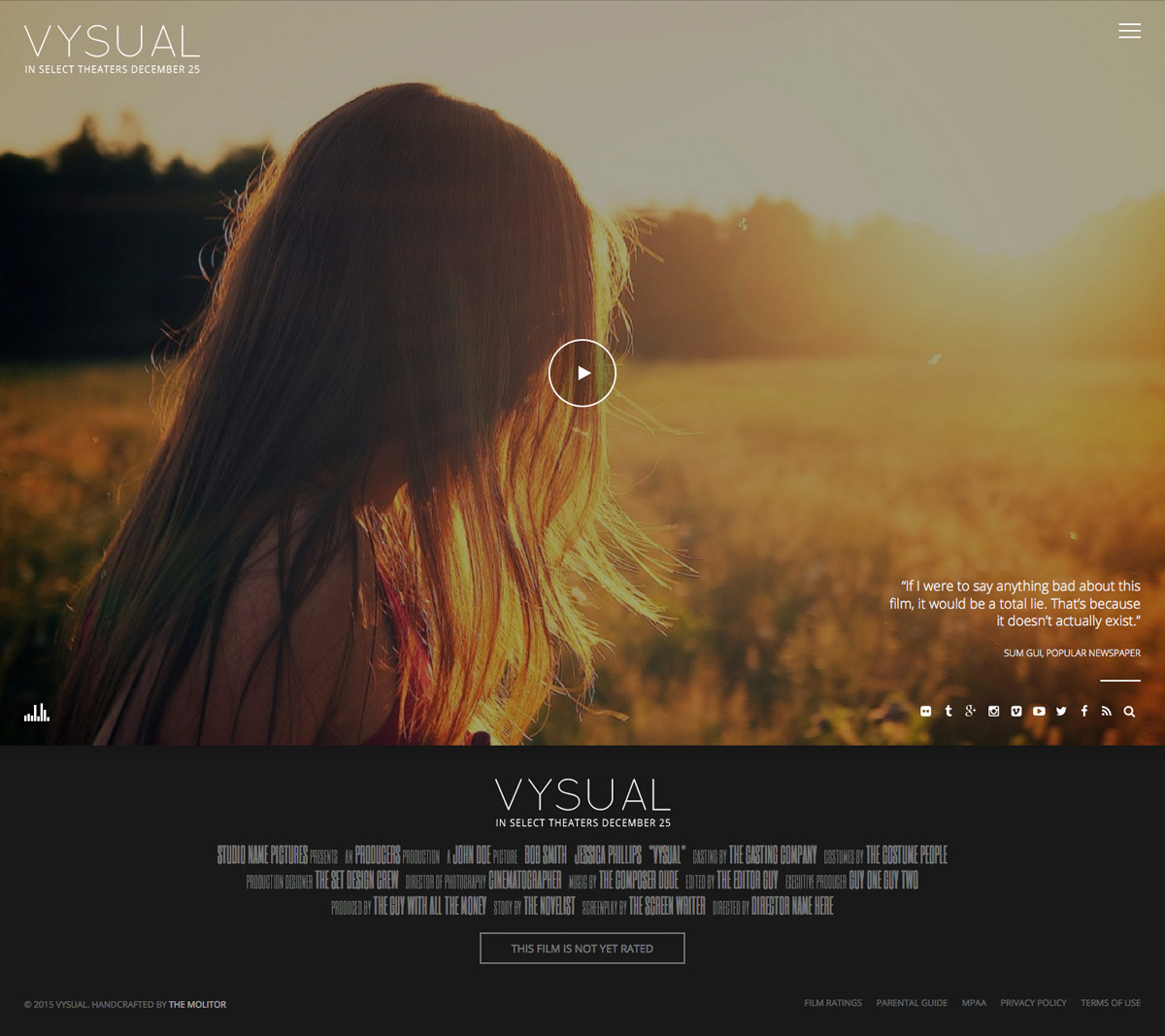 Latest Photo of  VYSUAL Responsive Film Campaign WP Theme