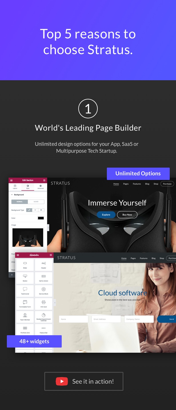 Latest Photo of  App, SaaS & Software Startup Tech Theme Stratus