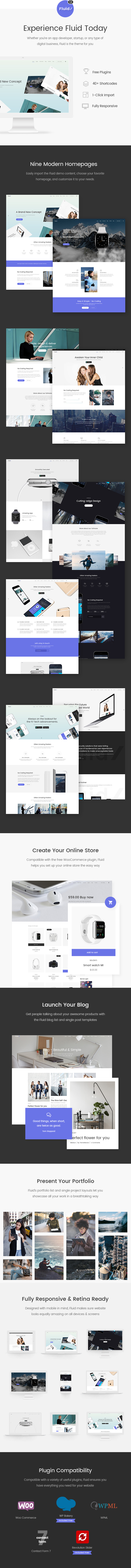 Latest Photo of  Fluid Startup and App Landing Page Theme