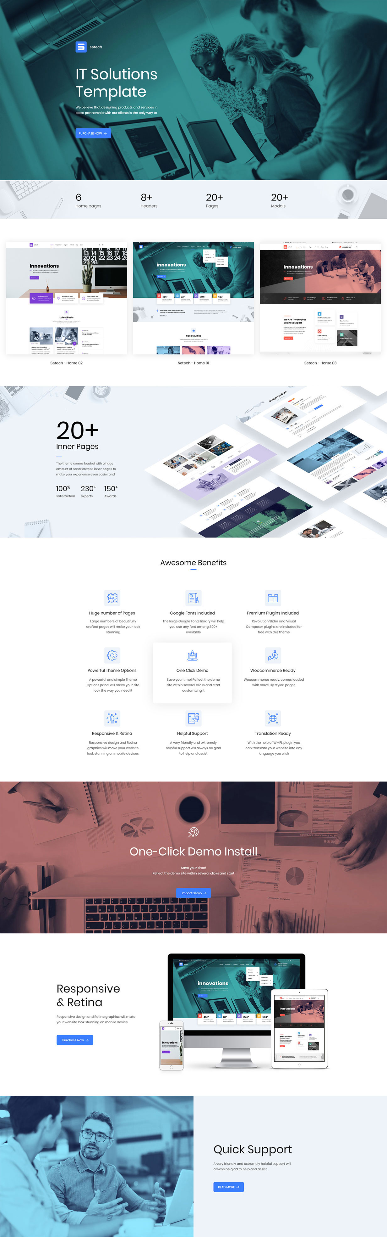 Latest Photo of  Setech IT Services and Solutions WordPress Theme
