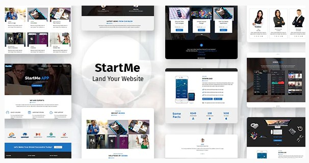Latest Photo of  Startme Landing pages for Mobile App, Products, Software, Hosting & Business