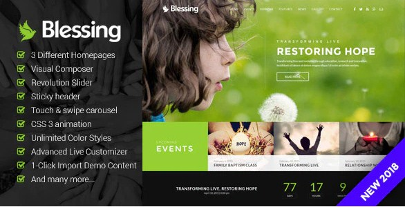 Latest Photo of  Blessing | Responsive WordPress Theme for Church Websites