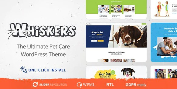 Latest Photo of  Whiskers Pet and Vet WordPress Theme