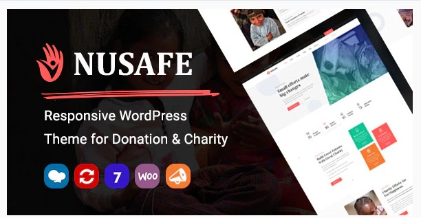Latest Photo of  Nusafe | Responsive WordPress Theme for Donation & Charity