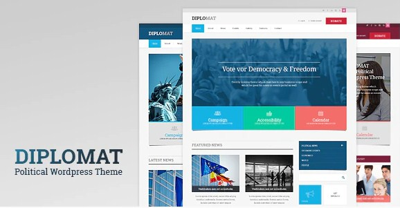 Latest Photo of  Diplomat | Political Campaign, Party, Blog Responsive WordPress Theme