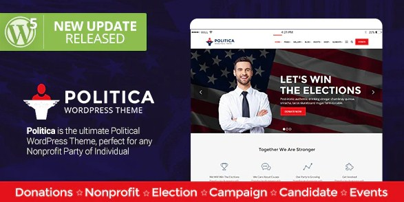 Latest Photo of  Politica A Modern Political Party & Candidate WordPress Theme