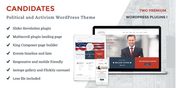 Latest Photo of  Candidates Political and Activism WordPress Theme