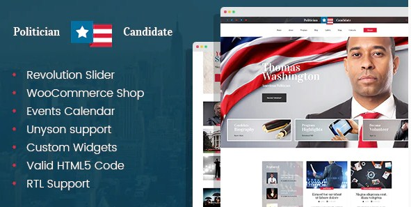 Latest Photo of  Politician political party candidate modern WordPress theme