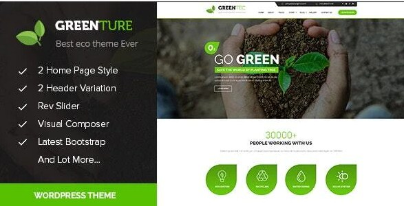 Latest Photo of  Eco Green WordPress Theme for Environment and Renewable Energy
