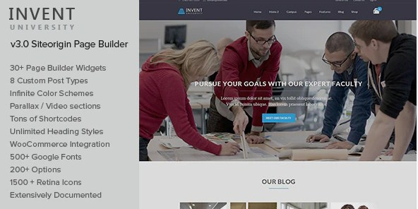 Latest Photo of  Invent Education Course College WordPress Theme