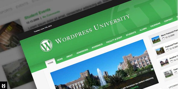 Latest Photo of  University: WordPress Theme For Colleges