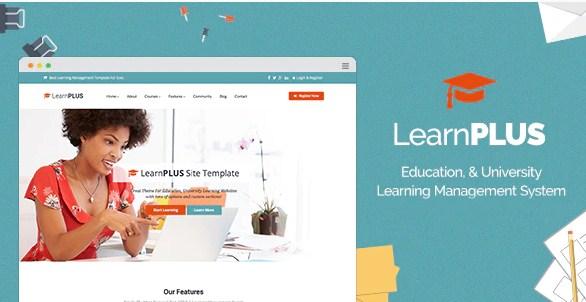 Latest Photo of  LearnPLUS   Education LMS Responsive Theme   Education
