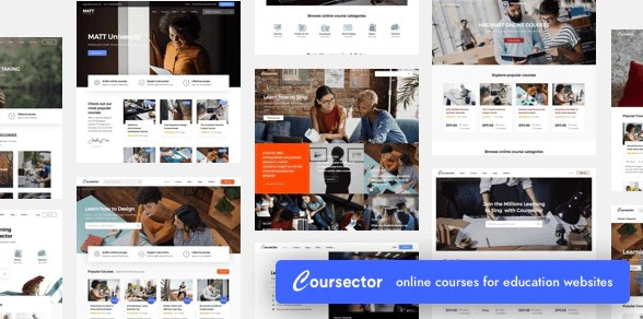 Latest Photo of  Coursector | LMS Education WordPress