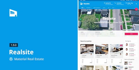 Latest Photo of  Realsite Material Real Estate WordPress Theme