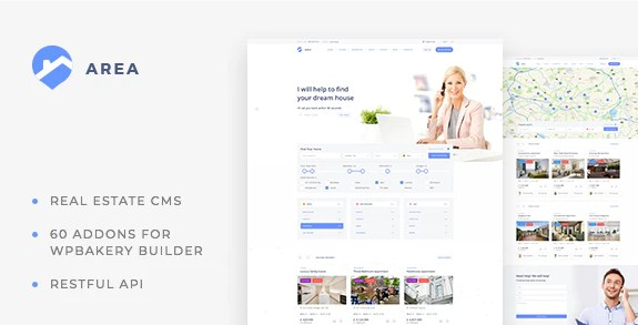 Latest Photo of  Area Real Estate WordPress theme for Agencies and Realtors