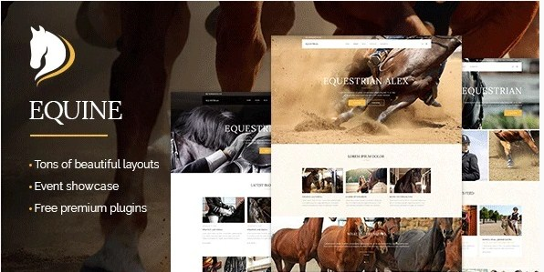 Latest Photo of  Equine An Equestrian and Horse Riding Club Theme