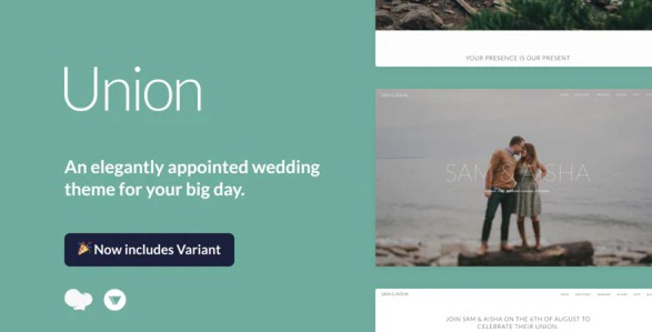 Latest Photo of  Union Wedding and Event WordPress Theme for Variant & Visual Composer